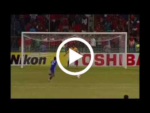 لاعب منتخب افغانستان و ضربة الجزاء