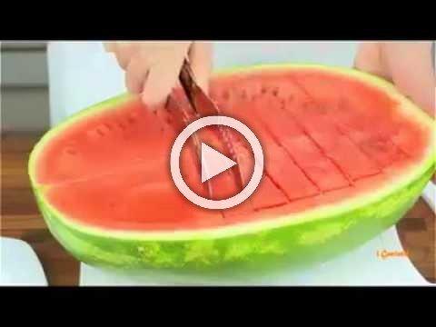 اروع وارتب طريقة لقطع البطيخ